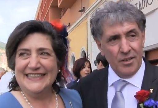 Lucia Ferrari e Giuseppe Barbieri genoa matrimonio stadio