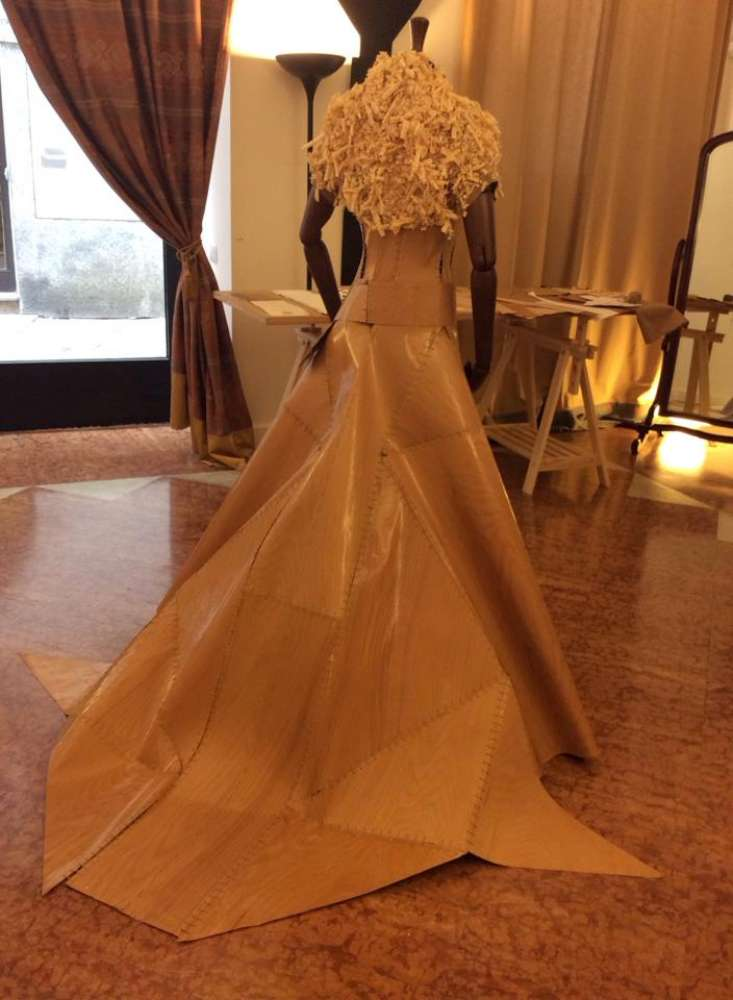wedding wood dress