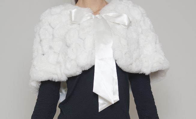 coprispalle bianco per sposa