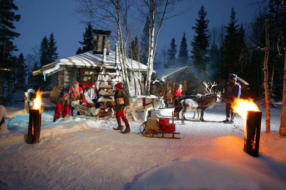 Viaggio di nozze in Lapponia, Rovaniemi, villaggio di Babbo Natale