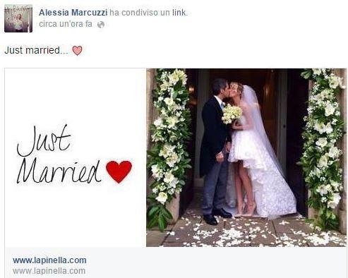 alessia marcuzzi nozze facebook