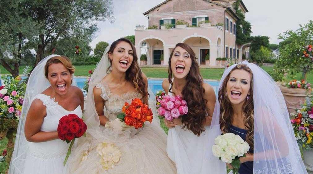 quattro matrimoni in Italia silvia cecilia grazia heljana