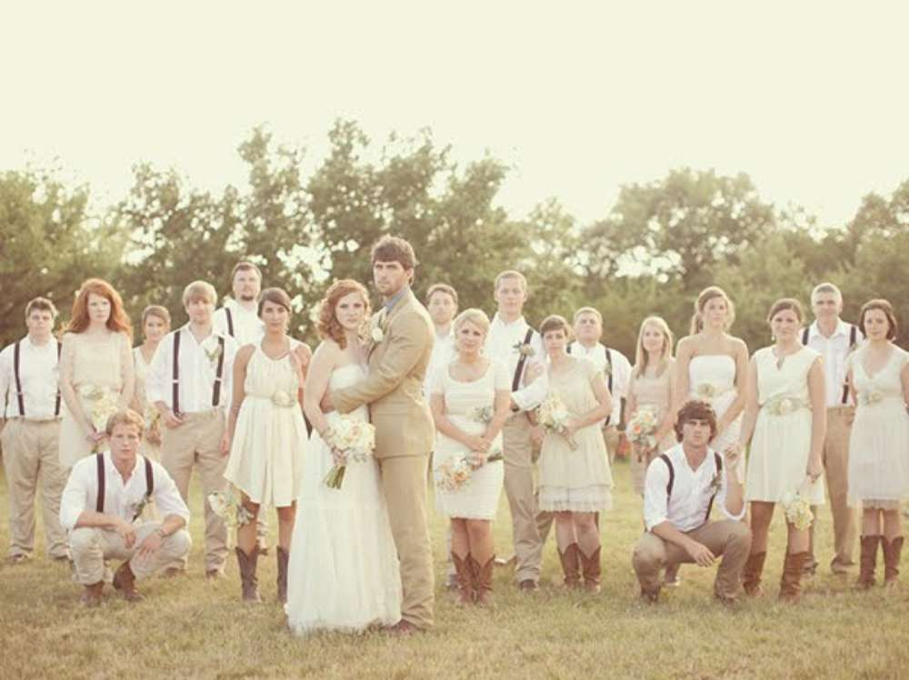 3 foto di gruppo matrimonio