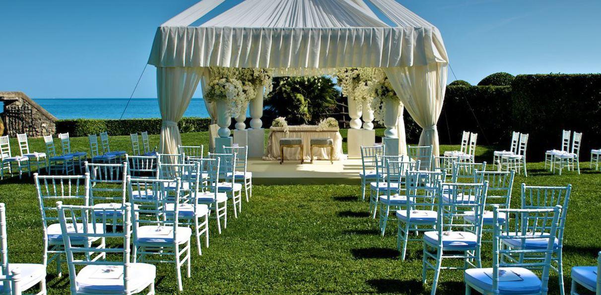 Matrimonio Spiaggia Ladispoli : Matrimonio con vista sul mare a la posta vecchia hotel
