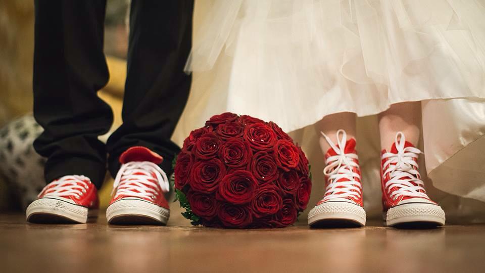 scarpe sposi all stars matrimonio