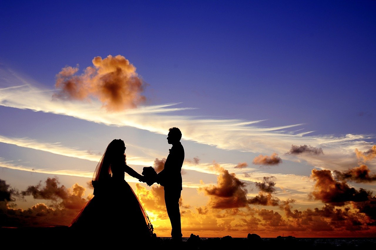 sposi generica tramonto