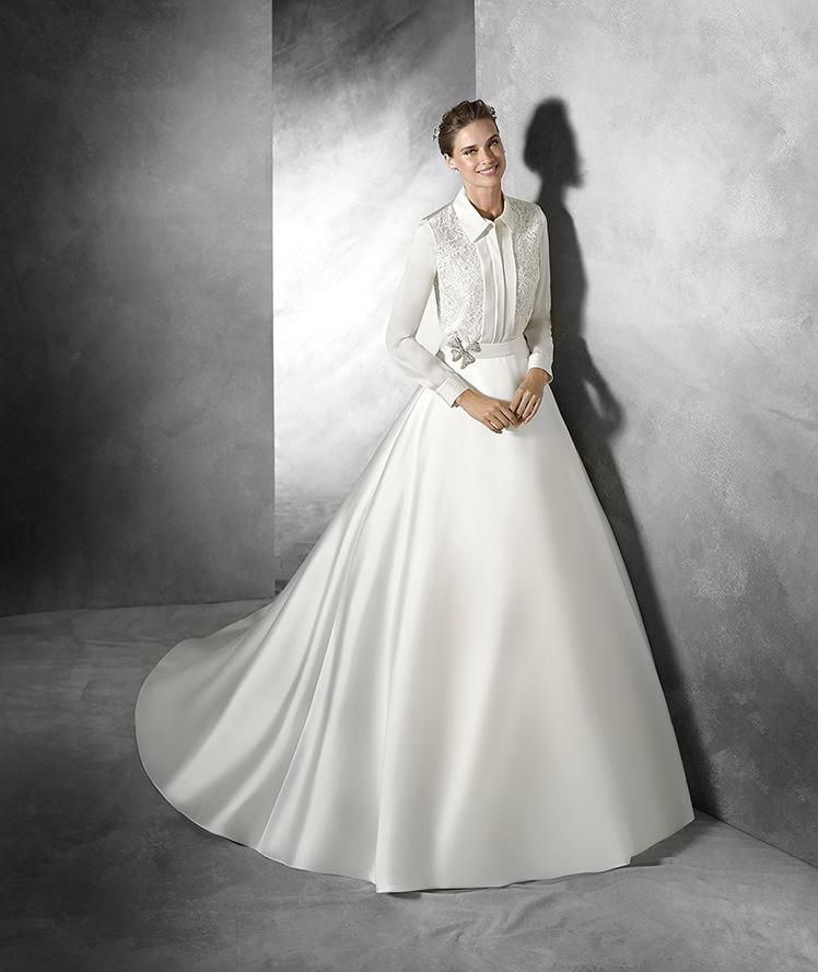 Modello Besaya per spose nate con la camicia