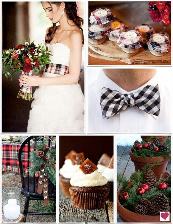Dettagli per un matrimonio country-natalizio