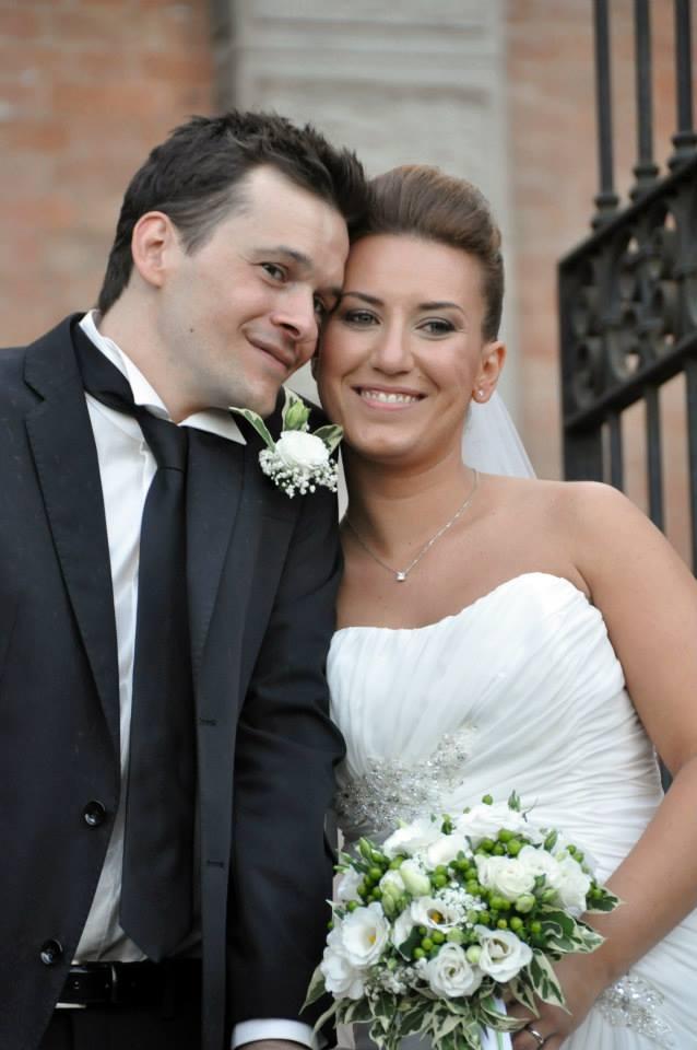 Daniela e Andrea il giorno del matrimonio