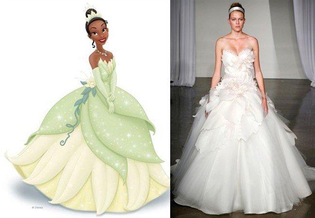 Abiti da sposa principesse Disney, Il principe e il ranocchio