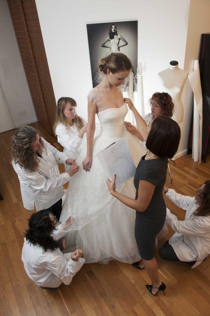 come nasce un abito da sposa