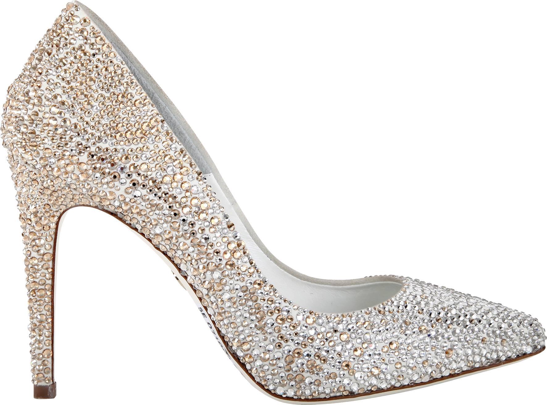 Decolletè Loriblu, scarpe da sposa cosparse di strass