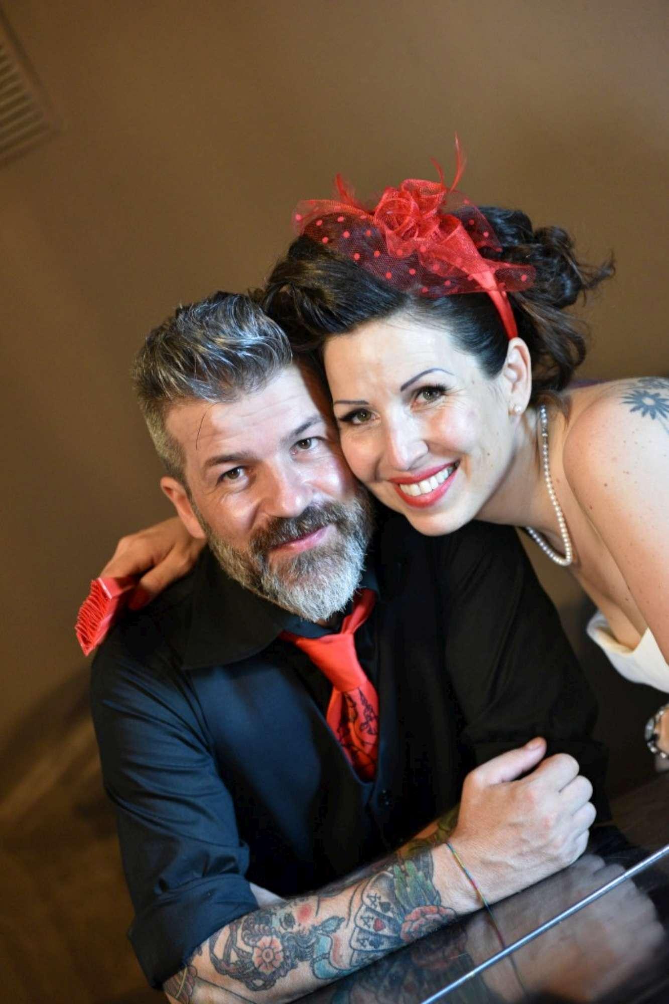 Paola e Giuseppe, matrimonio rockabilly