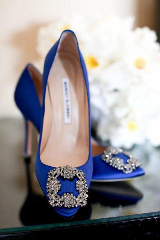 Qualcosa di blu... scarpe da sposa Bagdley Mischka