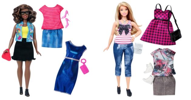 La Barbie curvy e le diverse possibilità di outfit