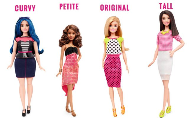 Le nuove Barbie Fashionistas