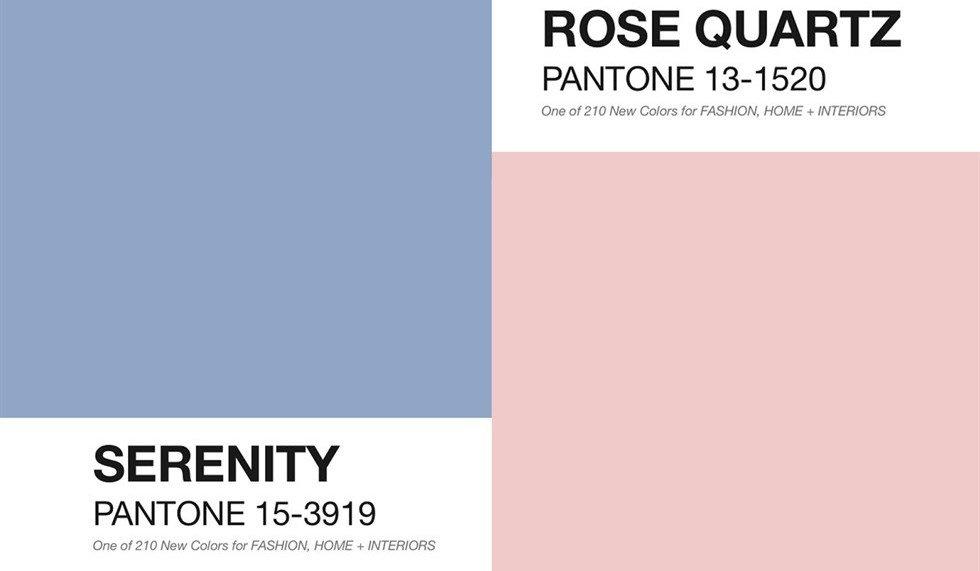 Pantone 2016: Rosa Quarzo e Azzurro Serenity