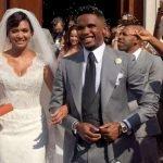 Matrimonio Eto'o e Georgette, le foto dell'abito della sposa