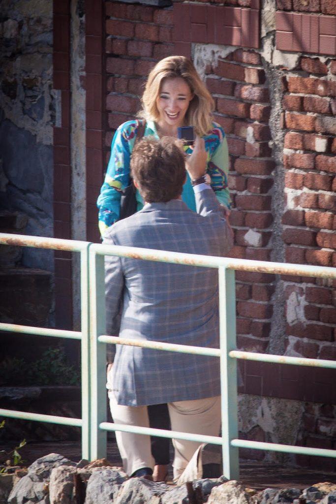 La foto della proposta di nozze