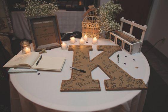 Guestbook matrimonio originale, Lettere XXL