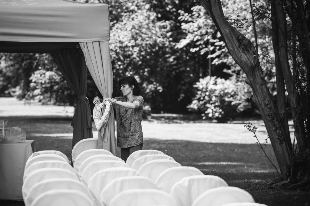 Serena ha allestito tutto la mattina del matrimonio
