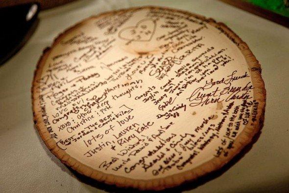 Sezione di legno per matrimoni country