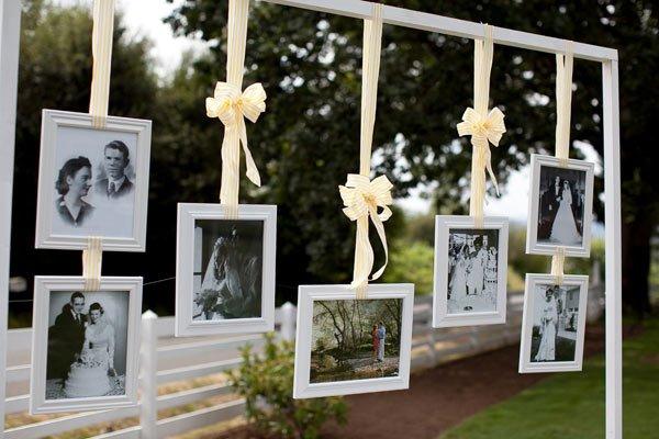 Matrimonio glamour, foto di famiglia