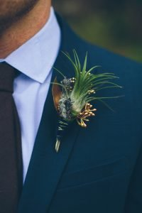 Gold+Seeded+Eucalyptus+Boutonniere
