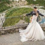 Sara e Daniele, un matrimonio a tema rosa in Alta Val Trebbia