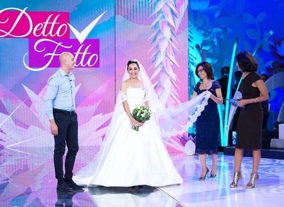 Alessandra Rinaudo a Detto Fatto con la sposa Vincenzina