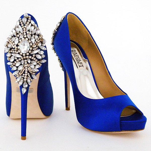 Qualcosa di blu, scarpe diBagdley Mischka