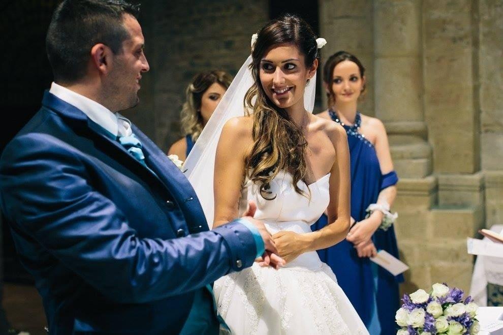 Sara e Andrea, un matrimonio sui toni del turchese