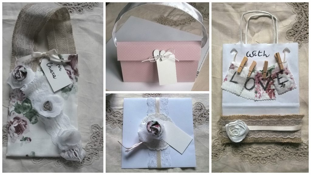 Wedding bag shabby chic fai da te