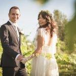 Francesca e Matteo: un matrimonio boho-chic sul glicine e l'azzurro