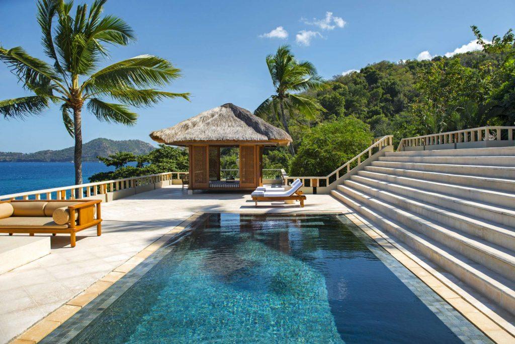 sposarsi a Bali, la piscina del resort Amankila