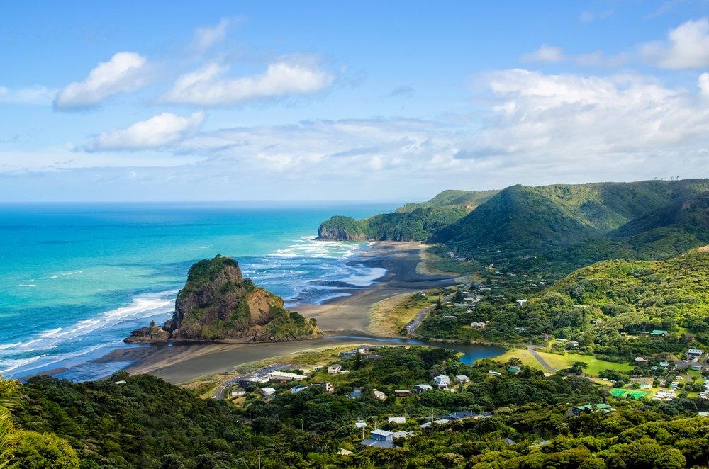 Viaggio di nozze in Nuova Zelanda, la spiaggia di Piha