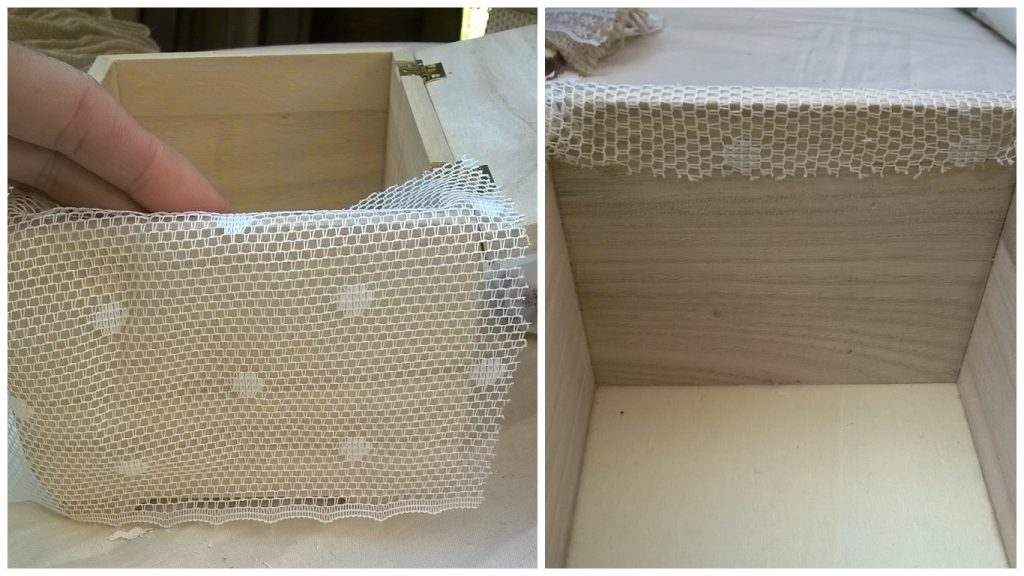 Decorazione low cost porta fedi shabby chic