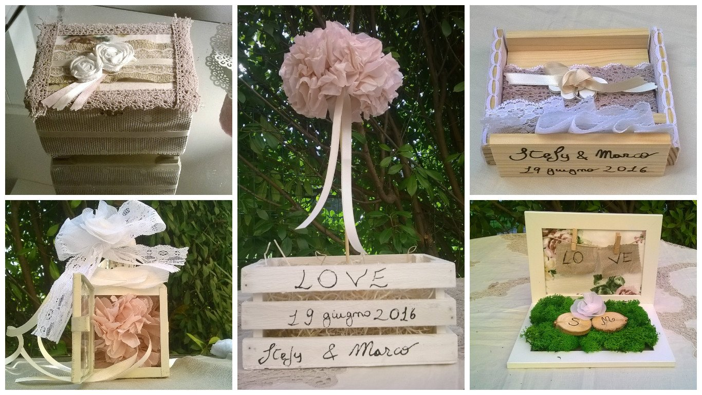Porta fedi shabby chic originali, 5 tutorial low cost - Panorama Sposi