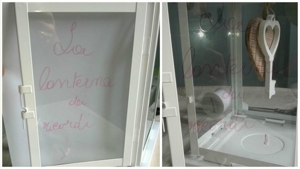 Con un pennarello, scrivete sul vetro una frase o parola esaustiva.
