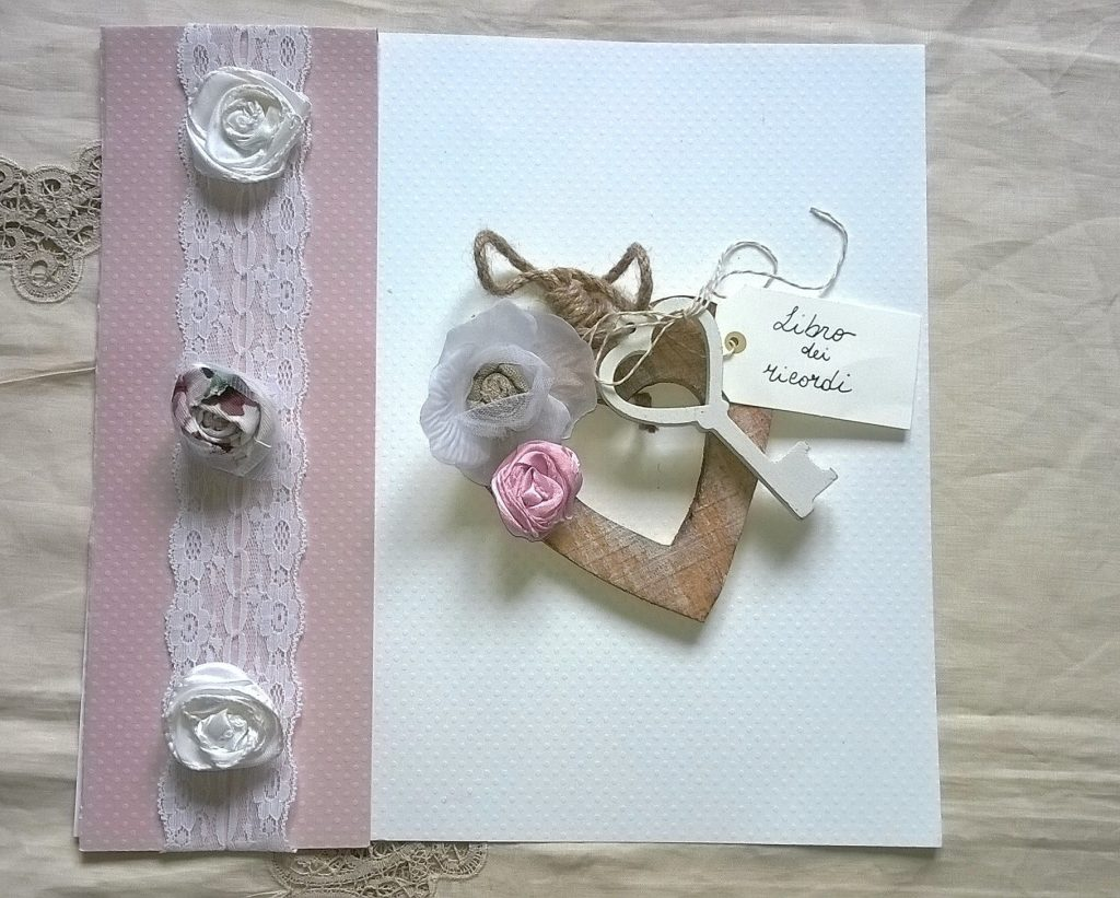 Decorazione guest book shabby
