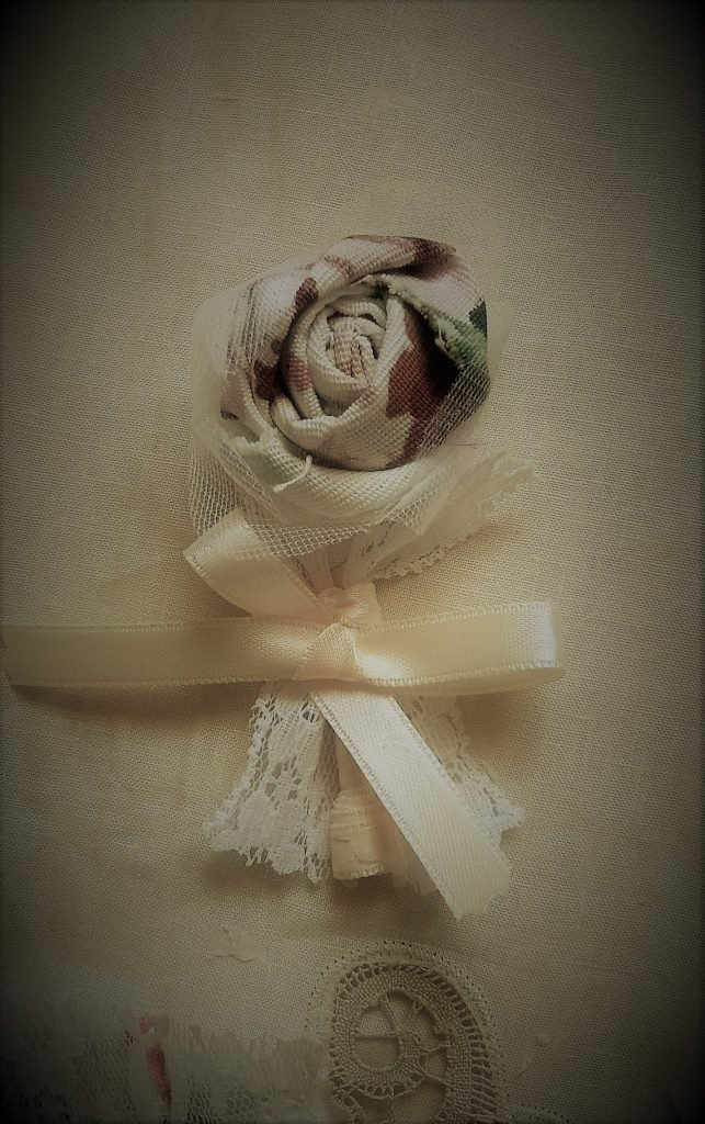 Tutorial boutonniere shabby chic