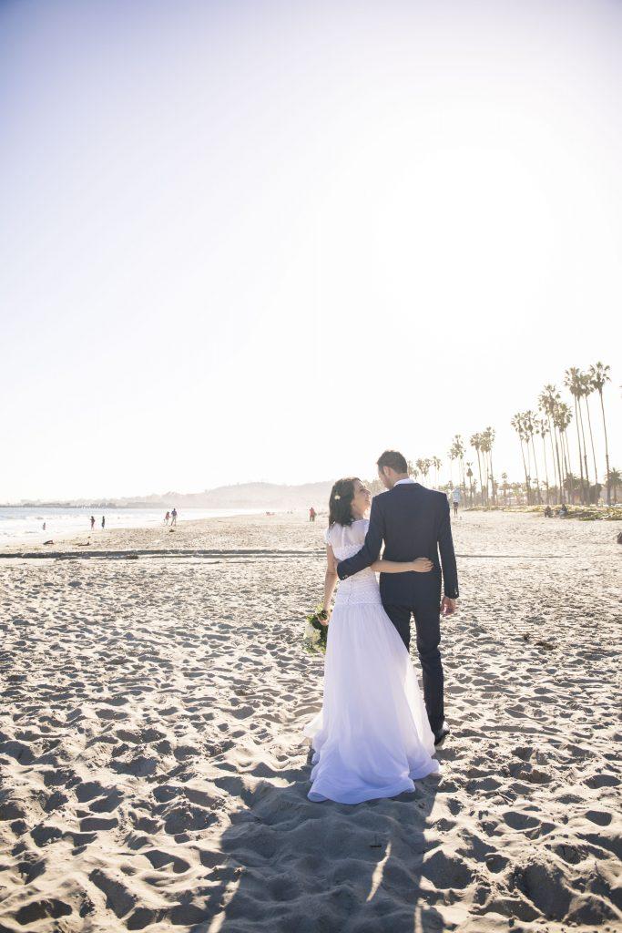Matrimonio negli Stati Uniti, gli sposi sulla spiaggia