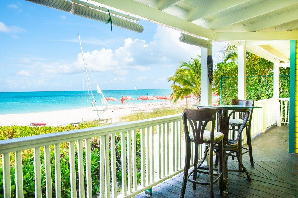 Viaggio di nozze Turks and Caicos, veranda sulla spiaggia