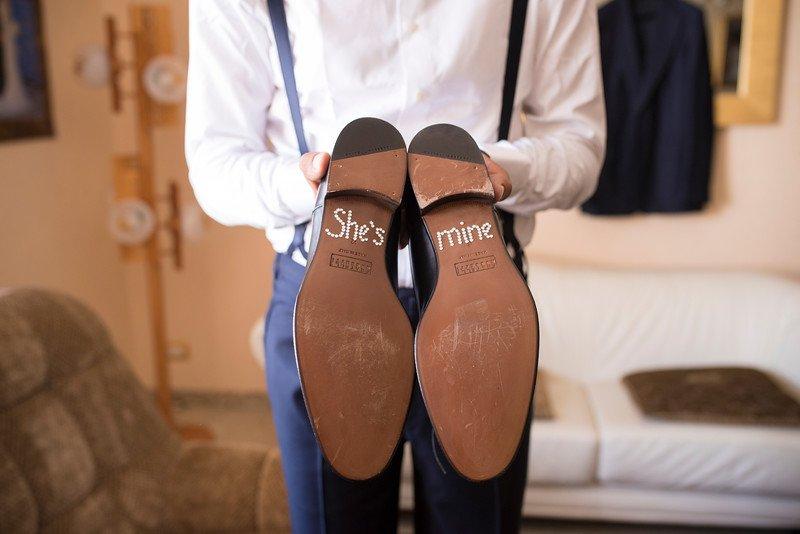 Le scarpe dello sposo personalizzate