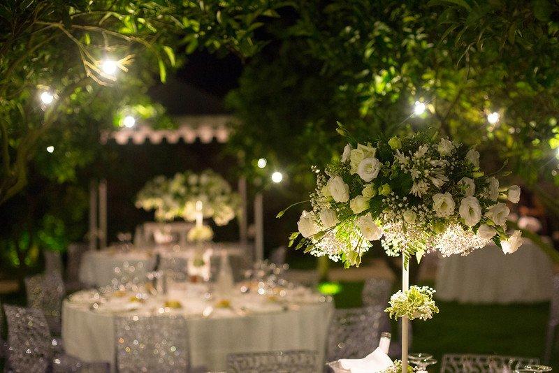 Matrimonio in bianco, allestimento