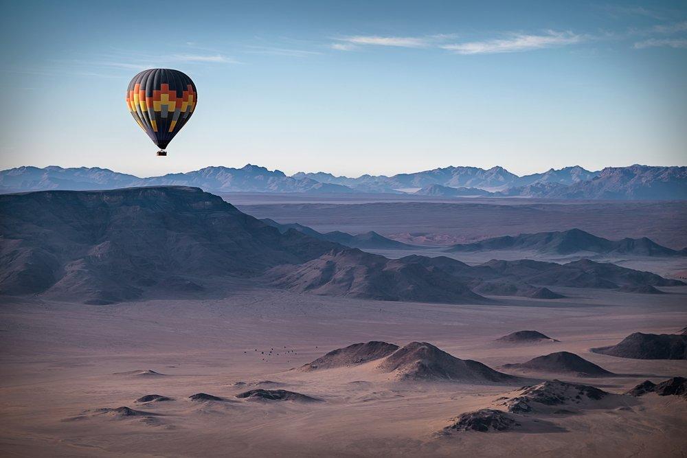 Viaggio di nozze in Namibia, tour in mongolfiera