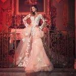 Belen Rodriguez per Alessandro Angelozzi, sposa sensuale e romantica