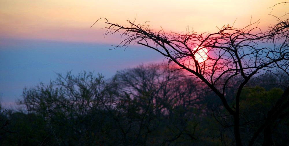 viaggio di nozze in Zimbabwe, tramonto