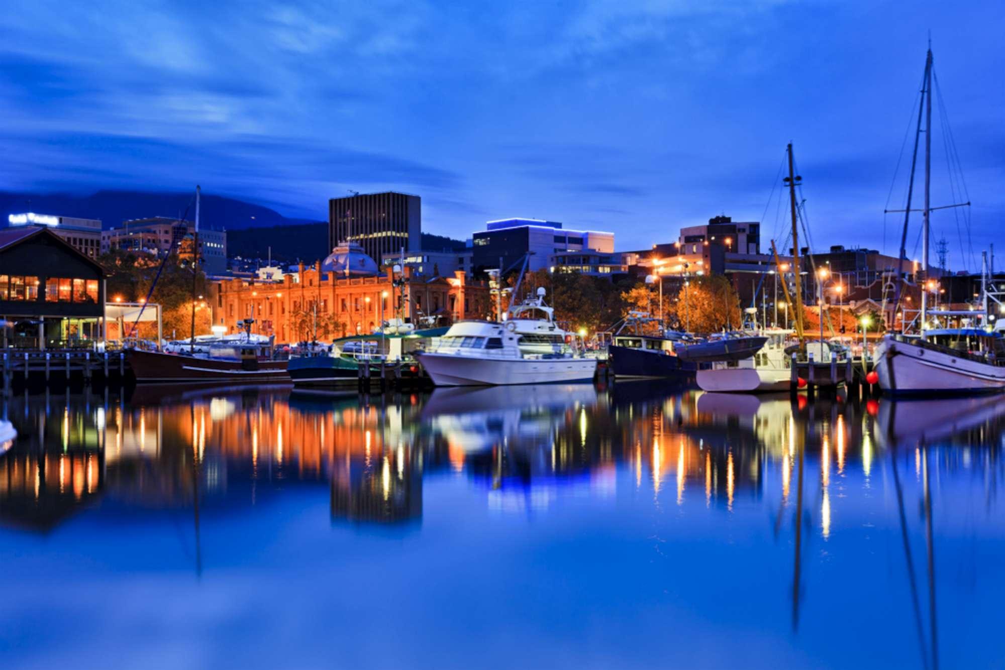 La capitale della Tasmania, Hobart