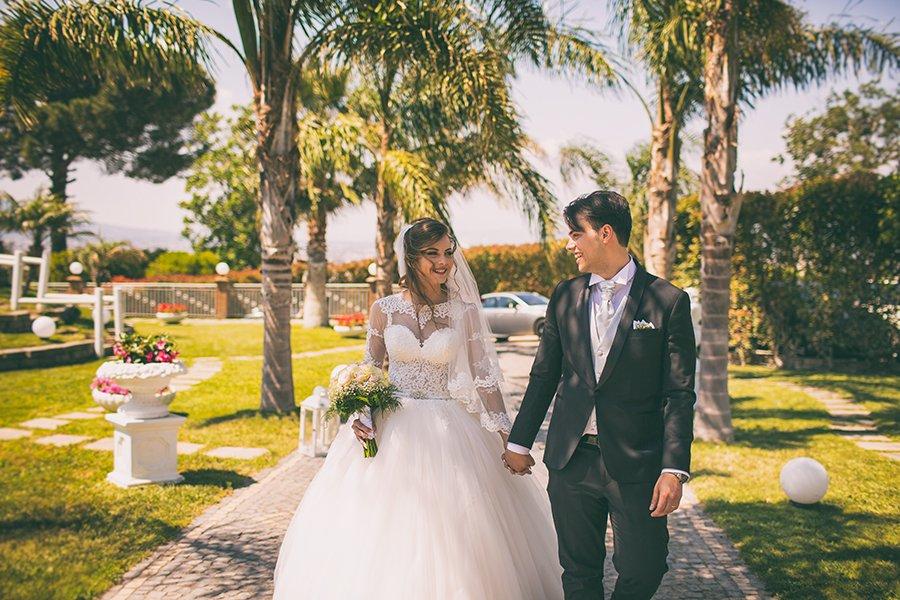 Matrimonio romantico, le nozze di Carmela e Danilo